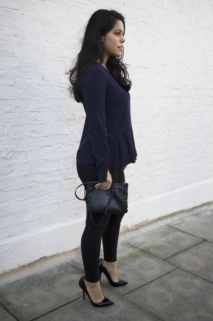 Wearing navy and black together