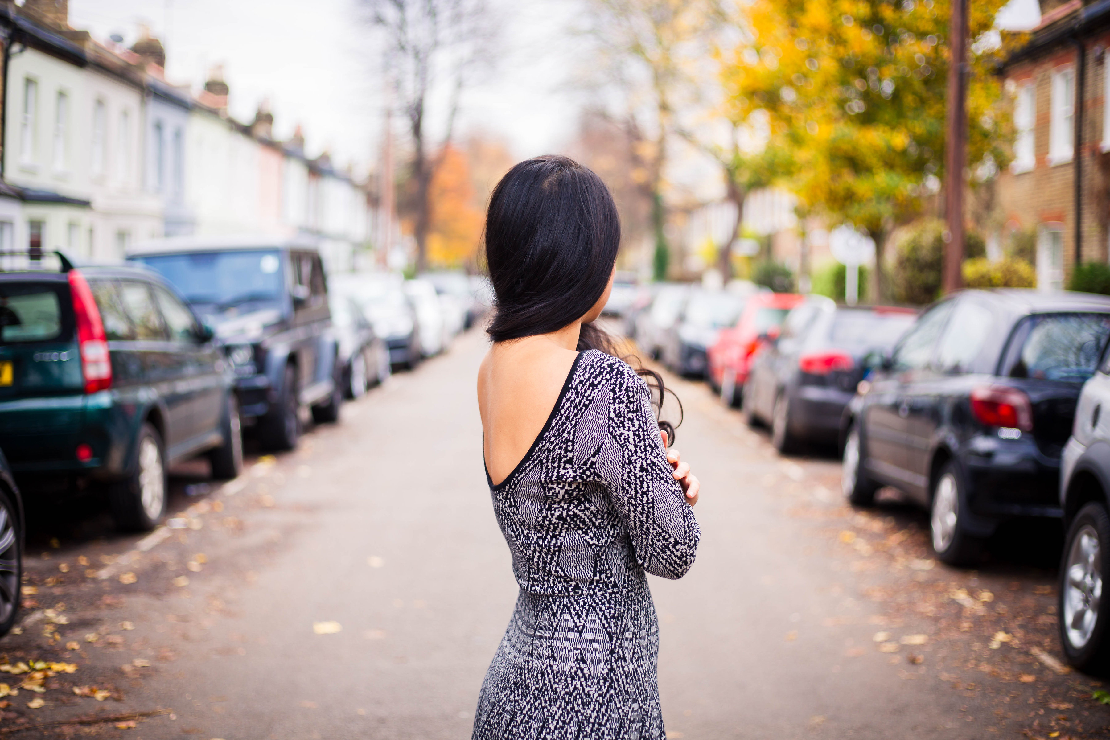 The Backless Winter Dress
