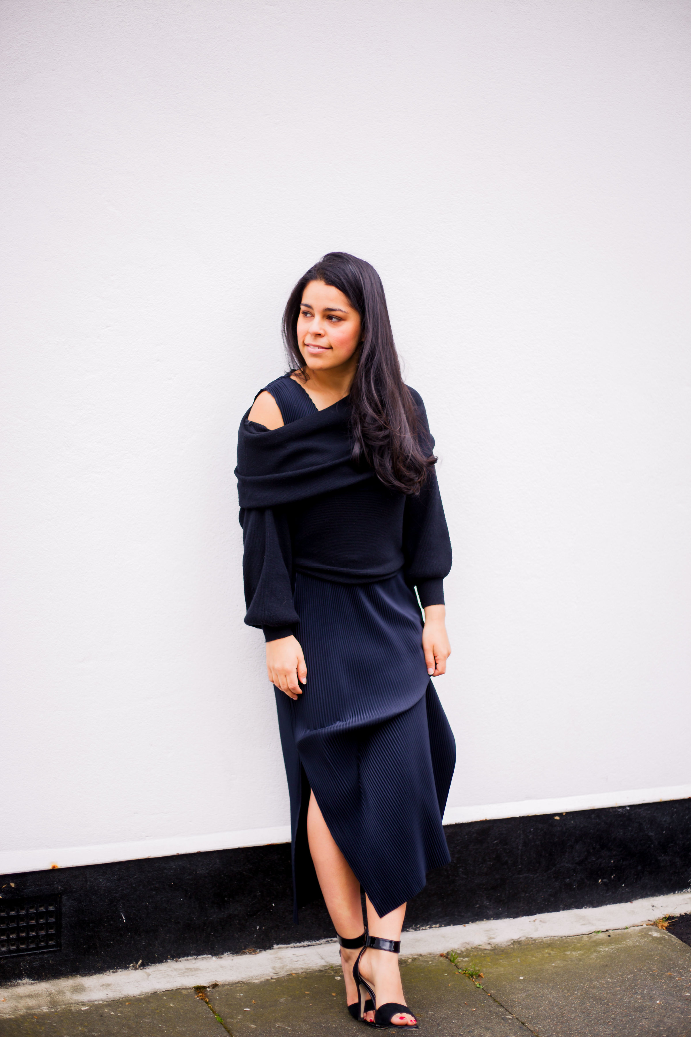 How To Wear A Sweater Over A Midi Dress Her Couture Life