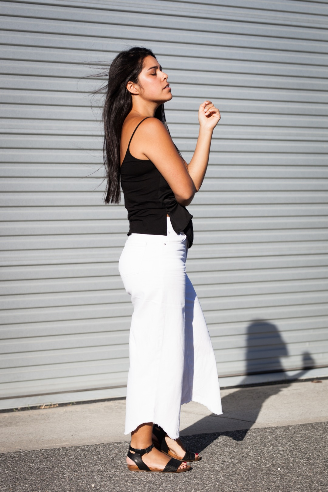The White Denim Culotte