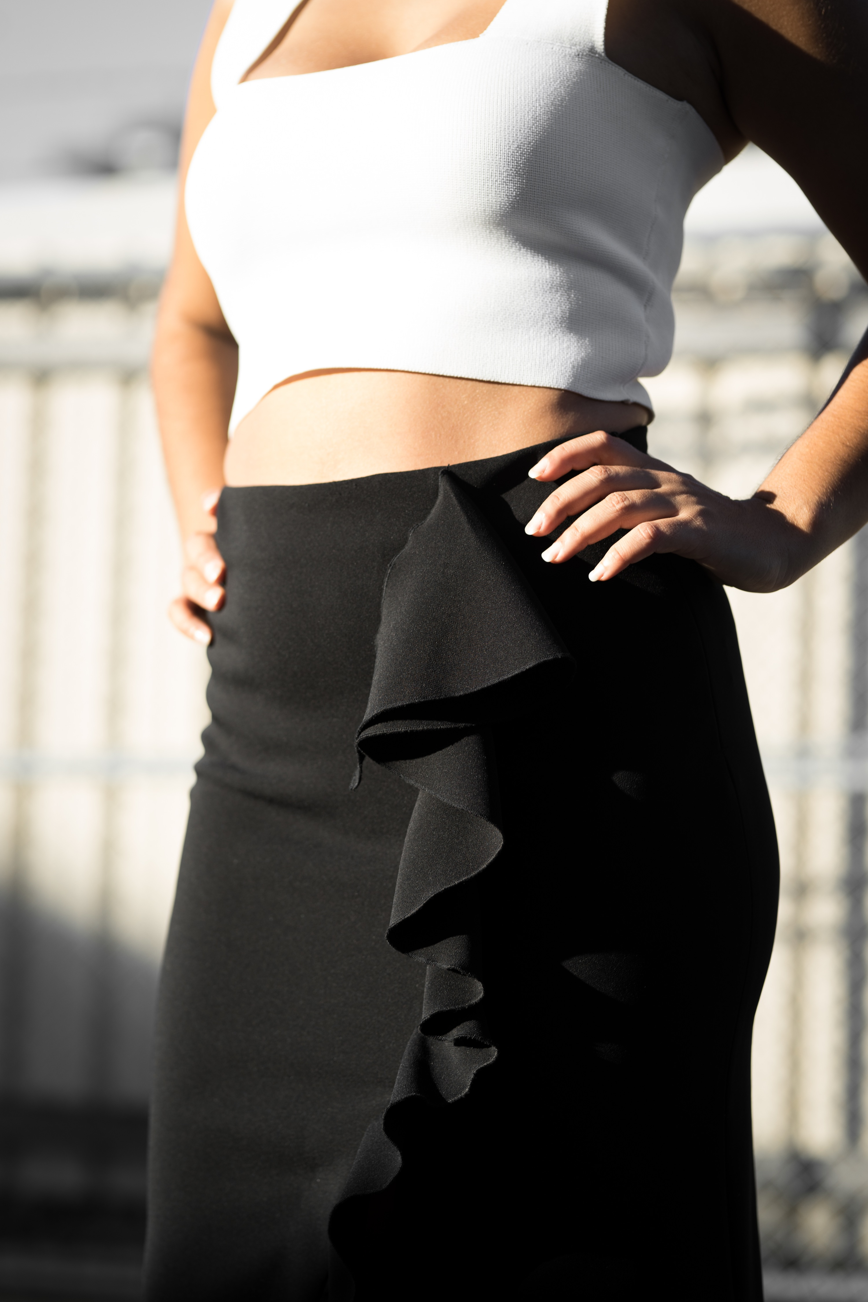 The Ruffle Pencil Skirt